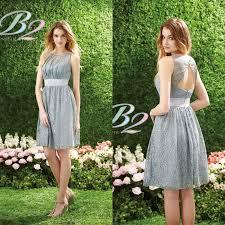 aliexpress com buy 2015 short silver bridesmaid dress b2 by