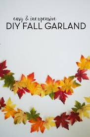 diy fall leaf garland fall garland dollar stores and garlands
