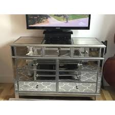 Pier 1 Imports Mirrored Chest by Pier 1 Imports Hayworth Silver Dresser Aptdeco