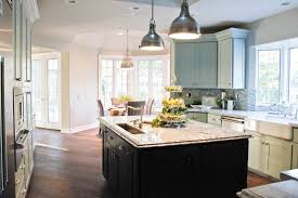 Kitchen Island With Table White Kitchen Ideas With Table And Black Chair Under Glass Pendant