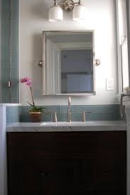 Glass Tile Bathroom by Picturesque Glass Tile Back Splash In Bathroom With Mosaic Glass