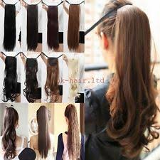 ponytail extensions clip on ponytail hair extensions ebay