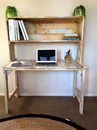Computer Desk Glass Trade Me Reclaimed Pallet Desk With Book Shelf Home Decor Ideas