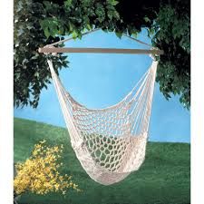 Hanging Patio Chair by Tree Swing Cotton Rope Hammock Chair Seat Patio Porch Garden