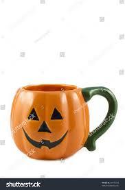 a cute little halloween jack o lantern pumpkin mug orange with