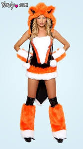 Fox Costume Halloween Foxxy Lady Corset Skirt Tail Fox Costume Costumes