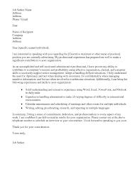 sample cover letter for administrative job administrative
