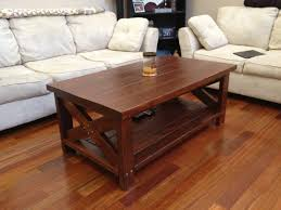 Wood Coffee Table Designs Plans by Rustic Farm Style Coffee Table Made From 2x4 U0027s And 2x6 U0027s