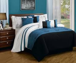 Embroidered Bedding Sets Black White And Blue Bedding Sets U2013 Sweetest Slumber