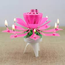 lotus birthday candle wedding decoration 1x pink magical flower musical birthday candle