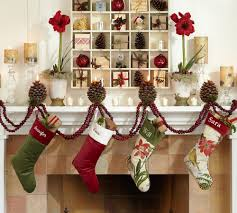 Decorated Christmas Homes Interior Stunning Decorating Christmas Theme With Green