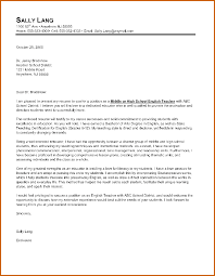 introduction to a cover letter 3 of for an english teacher