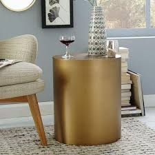 brass drum coffee table drum antique brass side table