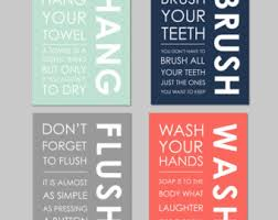Bathroom Art Printables Kids Bathroom Etsy