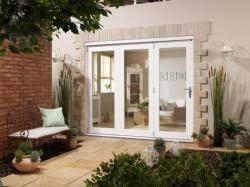 8 Ft Patio Door White Nuvu Pre Finished Folding Patio Doors Express Doors Direct