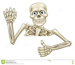 halloween skeleton images cartoon halloween skeleton thumbs up stock vector image 75993559