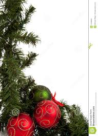 garland with and green ornaments stock image image