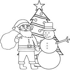 santa christmas tree coloring pages christian coloring pages