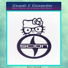 kitty scion vehicle car decal bumper sticker iphone 4