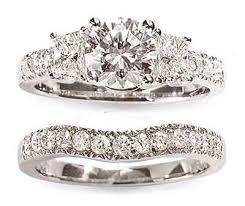 diamond wedding ring sets white gold diamond wedding set