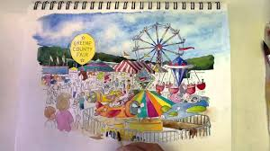 greene county fair time lapse watercolor painting youtube