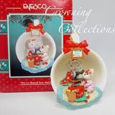 enesco of lights santa s boot mice house figurine