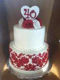 40th wedding anniversary cake 28 images 40th wedding