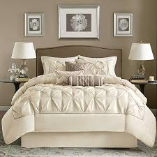 park ivory laurel comforter set california king