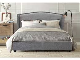 double size fabric studded wing bed frame tribecca collection