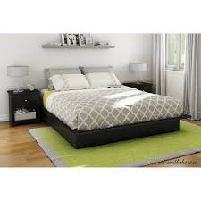King Platform Bed With Drawers by South Shore Soho King Platform Bed With Molding Black Walmart Com