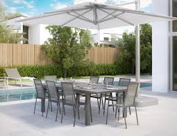 Patio Dining Table Set - vitale extendable outdoor dining table in gray for your patio