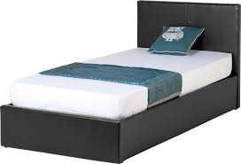 faux leather bed with gas liftup storage ottoman storage bed