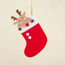 handmade plush chirstmas cards cartoon mini xmas stockings