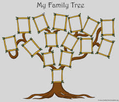 blank family tree template newspaper activity the year i