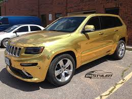 gold jeep cherokee gold chrome jeep grand cherokee srt8 vehicle customization shop