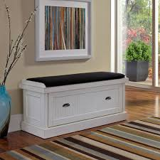Bedroom Storage Bench Nantucket Distressed White Upholstered Bench Walmart Com