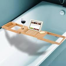 Bathtub Wine And Book Holder Homcom Bath Tub Bathroom Tray Bathtub Caddy Shelf Wine Holder Book
