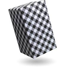 gingham wrapping paper gift wrap gingham black and white brabants