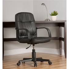 Leather Office Chair Mid Back Leather Office Chair Comfort Products
