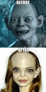 Gollum Meme - even gollum looks better with makeup www meme lol com funny gifs