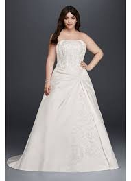 strapless wedding dress draped a line plus size strapless wedding dress david s bridal