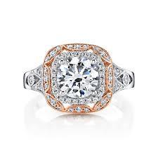 cushion halo engagement rings vintage cushion halo engagement ring leo alfred jewelers
