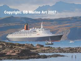 gb marine art qe2 anniverary homecoming