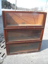 Globe Wernicke File Cabinet For Sale by 3 Sections Of Tiger Oak Veneer Globe Wernicke Stacking Lawyers