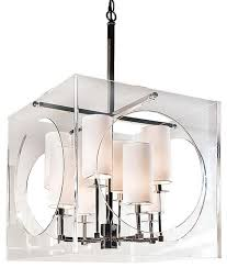 Modern Light Chandelier Regina Andrew Lighting Acrylic Cube Chandelier Modern