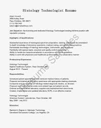 Electronics Technician Cover Letter Histology Technician Cover Letter