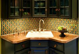 Corner Kitchen Sink Cabinets Bathroom Scenic Best And Cool Corner Kitchen Sink For Clean Home