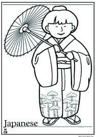 japanese coloring pages free