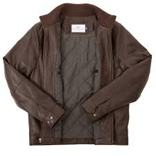 lambskin leather jacket brown peter manning nyc