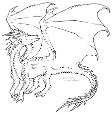 free dragon lines by bronzehalo on deviantart